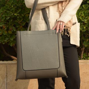 کیف دوشی چرم ترکیبی زنانه مدل plv184-1573