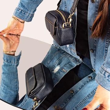 تصویر کیف دوشی چرم طبیعی زنانه مدل DB112
