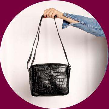 تصویر کیف دوشی چرم طبیعی زنانه مدل V201