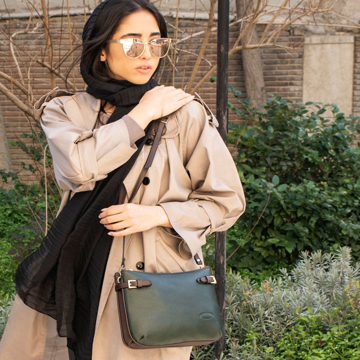 تصویر کیف دوشی چرم ترکیبی زنانه مدل PLV174
